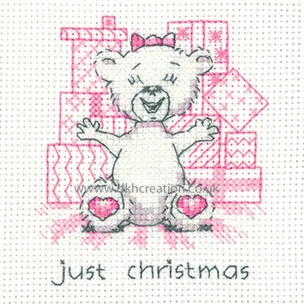 Peter Underhill Justine Just Christmas Greeting Card Cross Stitch Kit